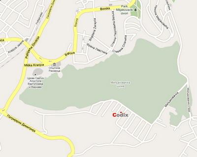 miljakovac mapa CODIX Servis   Kontakt miljakovac mapa